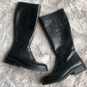 J. Crew made in Italy Black Leather Boots